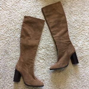 Zara Suede Heeled Boots